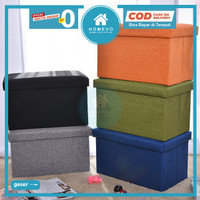 Box Penyimpanan Serbaguna Kursi Bangku Lipat Storage Box Stool Sofa