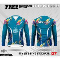 Jersey sepeda kaos gowes baju bike bike saja lengan panjang