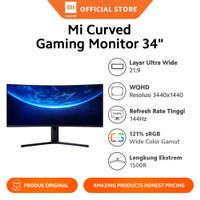 "Xiaomi Mi Curved Gaming Monitor 34"" WQHD Layar Ultra Wide 144 Hz"