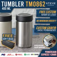 Botol minum stainless termos vacuum tumbler travel mug TM0862 Silver