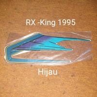RX-king 1995 hijau biru Motor Honda List Striping Sticker Stiker