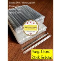 Sedotan Steril Higienis Bungkus Plastik Lurus Runcing 5mm isi 300pcs