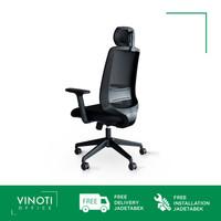 Kursi Kerja / Kantor / Gaming VINOTI Office X-Mesh HB Hitam