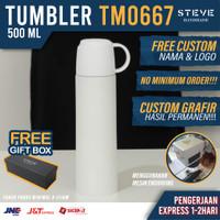 Botol minum stainless termos vacum tumbler mug TM0667 White