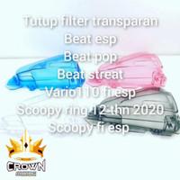 Cover Filter Udara Transparan Beat / Scoopy / Vario 110FI
