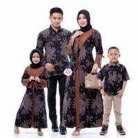 Sarimbit Gamis Batik Keluarga Couple Baju Batik Ayah Ibu & 2 Anak
