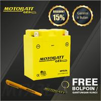 Motobatt Gel Mtx3L - 3Ah - Garansi 6 Bulan, Free Kaos