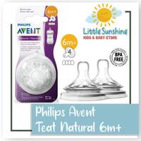 Dot / Teat / Nipple Natural Philips Avent 3M+, 6M+ - 6-9 Bulan