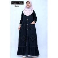 Gamis Anak Perempuan 10 tahun Baju Muslim Anak Jeans VALLERY 8-10 th
