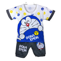 Setelan Baju Anak Bayi Laki Doraemon Usia 0-12 Bulan