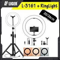 Tripod Liger L-3161 Plus Ring Light hotography Lighting