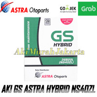 Aki Mobil Datsun GO GS Astra NS40ZL Aki Basah GS HYBRID 12V / 35 Ah