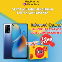 OPPO A74 6/128GB Bundle Indosat Garansi Resmi Oppo