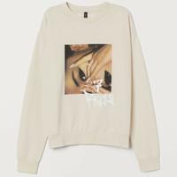Sweater / Crewneck h&m original 100% 7 Rings - cream, S