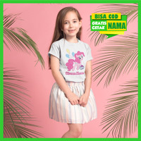 Baju Kaos Anak Cewek Ulang Tahun Little Pony Kuda Poni Bisa Cetak Nama