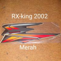 RX-king 2002 merah Motor Honda List Striping Sticker Stiker