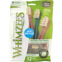 Whimzees Dental Chew Dog Treats Value Bag Toothbrush M