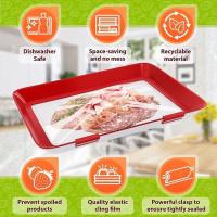 Food Fresh Vacuum Tray Sealer Penyimpan Makanan Tray Vacuum Ajaib