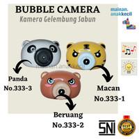 Mainan anak cewekcowok BUBBLE CAMERA/KameraGelembung sabun- MachineSet - macan