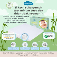 Comfy Baby Wedge Memory Foam Bamboo Pillow