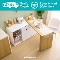 Dekoruma Sano Lemari Laci Dapur Minimalis dengan Meja