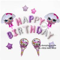 PROMO! Paket Balon Dekorasi Ulang Tahun Birthday Tema LOL SURPRISE -