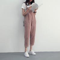 jumpsuit baju kodok wanita slim cute lucu k pop style grosir