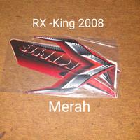 RX-king 2008 merah Motor Honda List Striping Sticker Stiker