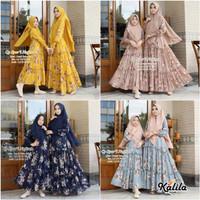 Baju Terusan Coupel Ibu Dan Anak Muslim Longdress Nafisah 1 Cp Syari