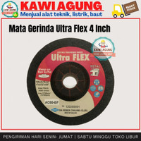 Mata Gerinda Ultra Flex Flexible Resibon 4 Inch Untuk Poles Bahan Besi