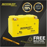 Motobatt Gel Mtx7A - 7Ah - Garansi 6 Bulan, Free Kaos