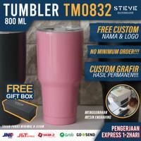 Botol minum stainless termos vacuum tumbler travel mug TM0832 Pink