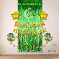 SET Ramadan Mubarak Foil Balloon / Dekorasi Balon Lebaran Idul Fitri