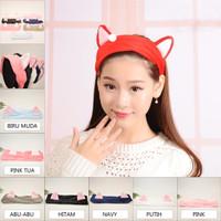 Korean Hairband - Bandana Kucing Cuci Muka Mandi Makeup/Bando Masker