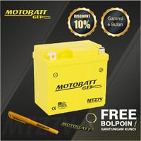 Motobatt Gel Mtz7V - 7Ah - Garansi 6 Bulan, Free Kaos