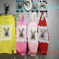 sweater anak cewek motif kelinci