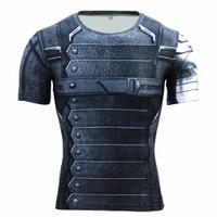Winter Soldier Short Sleeve Compression Shirt rashguard bjj