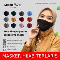 MICRO MASK BASIC HIJACKET - Masker Kain 2PLY Unisex Pria Wanita