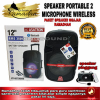 speaker portable asatron 12 Inch+speaker pinggang weistban