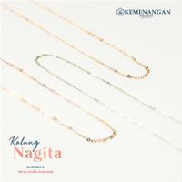 Kalung Emas Rantai Premium Nagita Chain Necklace Rose Gold 750
