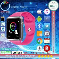 SMARTWATCH A1 U10 SIM GSM MEMORI CAMERA APPLE WATCH CLONE SILVER PINK