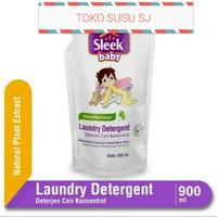 SLEEK BABY LAUNDRY DETERGENT REFILL 900 ML/900ML/ CUCI BAJU