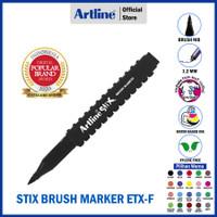 SPIDOL ARTLINE NON PERMANENT STIX BRUSH MARKER ETX-F - Black