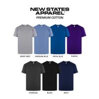 Kaos Polos New States Apparel Premium Cotton T-shirt 7200 24s Built Up