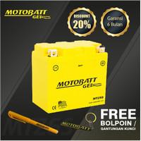 Motobatt Gel Mtz6S - 6Ah - Garansi 6 Bulan, Free Kaos
