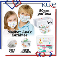 Masker Anak Earloop / Masker Anak 3 ply / Masker Wajah Kesehatan