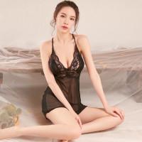 LINGERIE SEXY BAJU TIDUR WANITA DEWASA SEKSI ROK DRESS SILANG FN-15