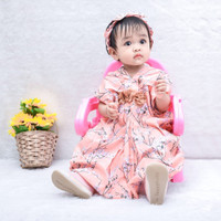PREMIUM FLOWER KAFTAN dress anak perempuan babeebabyshop