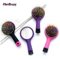 Herbaay Multifunctional Sisir Mini Portabel dengan Cermin