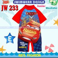 JW 233 E - swimwear macqueen / baju renang cars plus topi